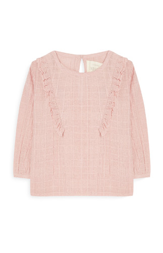 kimball-0006101-bg crepe frill blouse blush, grade