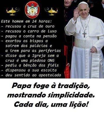 APREDENDO COM O PAPA FRANCISCO E COM A HISTORIA