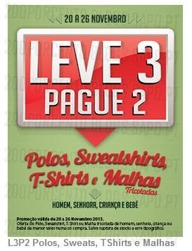 Leve 3 Pague 2   CODE / PINGO DOCE   de 20 a 26 novembro