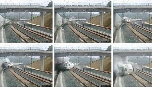 Comboio a Descarrilar em Santiago de Compostela