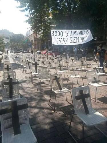 SOS Venezuela, 3000 cadeiras vazias para sempre