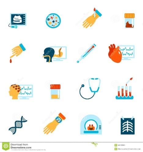 medical-tests-icons-flat-tested-health-care-set-tu