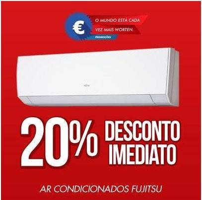 20% de desconto |WORTEN | ar condicionado fujitsu de 21 a 23 fevereiro