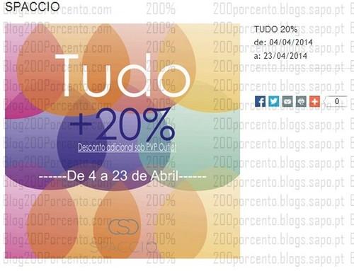 20% adicional em tudo | THE STYLE OUTLETS | Spaccio de 4 a 23 abril