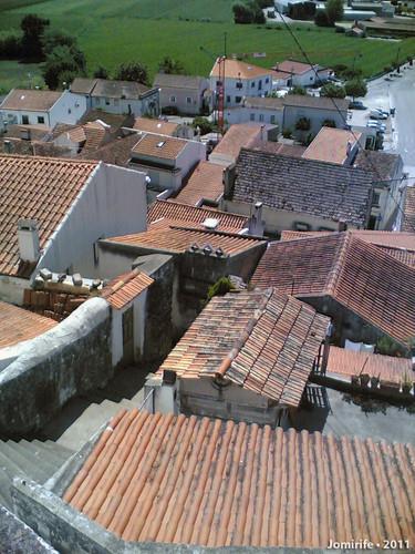 Casas em redor do castelo de Montemor-o-Velho