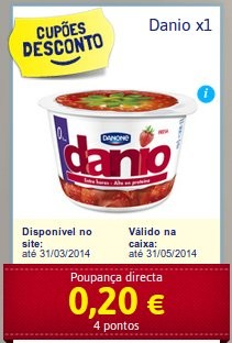 Novo cupão de desconto | DANONE | Danio