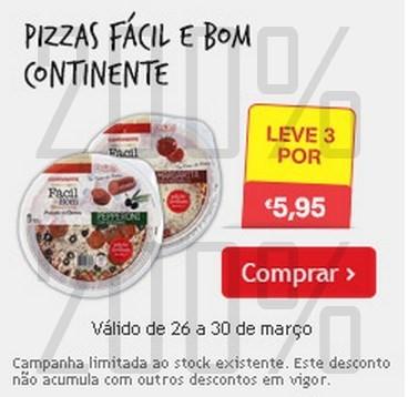Promoção | CONTINENTE | Pizzas até 30 março