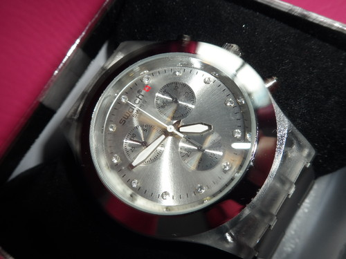 f062b747d65 Relógio Swatch Full Blooded (réplica de Luxo) - Espelho Meu