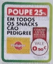 Acumulação 25% + Vale | PINGO DOCE | Snacks p/ animais de 7 a 13 janeiro