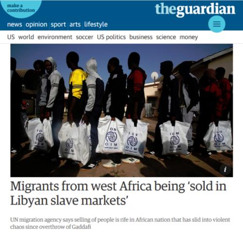 mercado de escravos na Líbia - Media