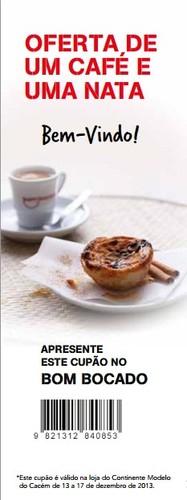 Oferta café e pastel de nata | CONTINENTE | Cacem, até 17 dezembro