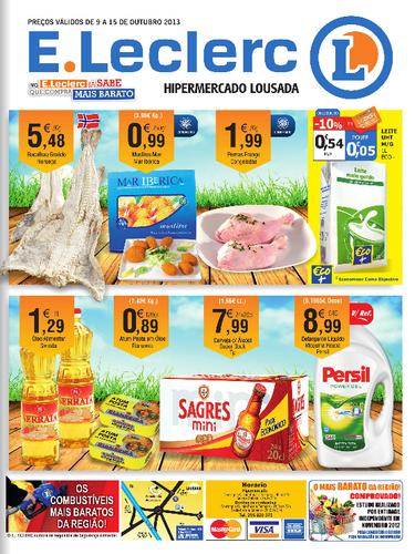 Antevisão E-leclerc, Folheto Lousada, de 9 a 15 Outubro