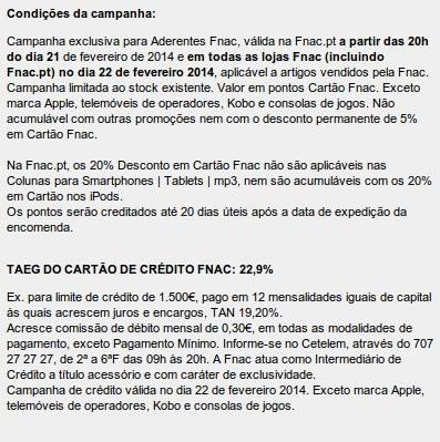 Flash Sales | FNAC | Dia 22 fevereiro