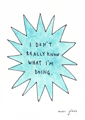 I don't really know what I'm doing by marc johns