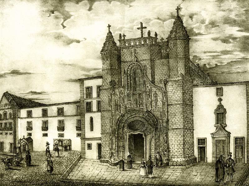 Praça 8 de Maio. Antiga fachada de Sta. Cruz.jpg
