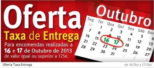 Oferta Taxa Entrega | JUMBO | dias 16 e 17 Outubro