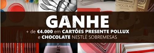 Passatempo NESTLÉ ganha cocolates e cartões presente até 500€