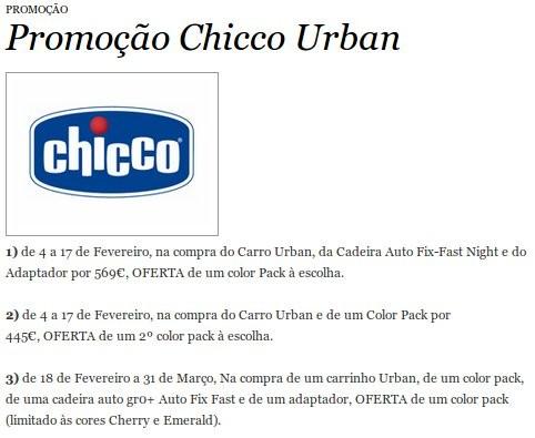 Promoção | EL CORTE INGLÉS | Chicco Urban