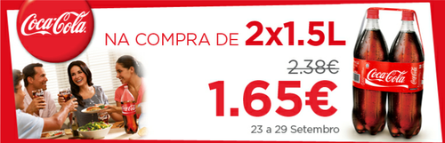 3 lts coca-cola a 1.65€