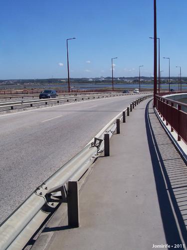 Rail caído ponte Edgar Cardoso (Figueira da Foz)