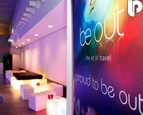 Lounge da BeOut, patrocinador oficial da LESBOA Party em 2012.