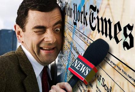 Repórter Imbecil, NY TImes (Rowan Atkinson)
