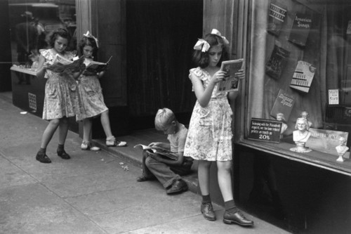 Comic book readers, New York City, 1947 Ruth Orkin