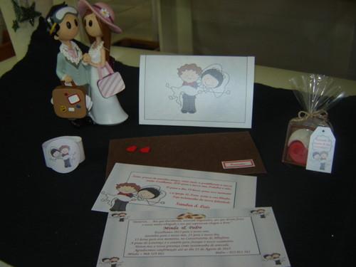 Novos conjuntos para casamento, com convites, brindes, marcadores de mesa, ementas, etc