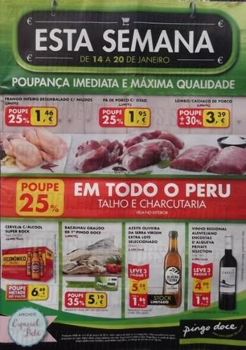Antevisão de folheto Pingo Doce de 14 a 20 janeiro