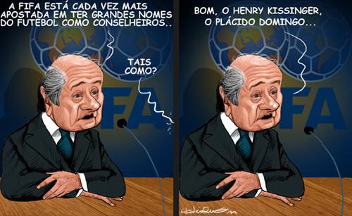 Este homem não Blatter bem
