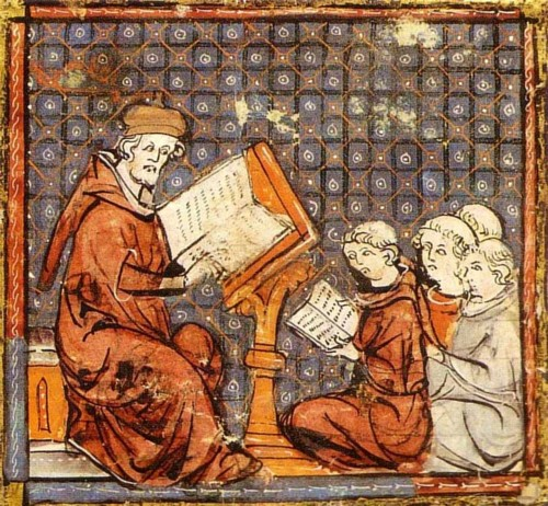 Filósofo medieval, Grandes Chroniques de France.j