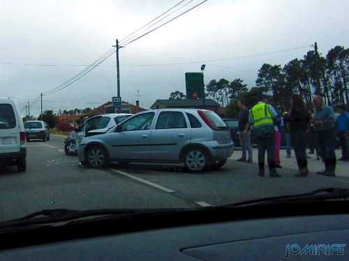 Acidente na estrada nacional N109 entre ligeiros