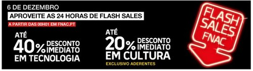 Flash sales   FNAC   6 dezembro