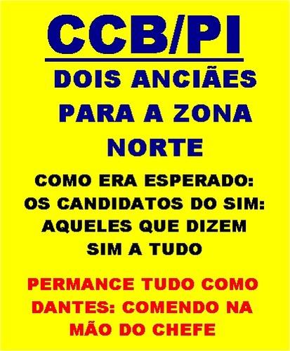 CCB-PI/CANDIDATOS DO SIM