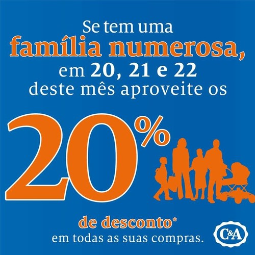 20% desconto | C&A | de 20 a 22 dezembro - APFN