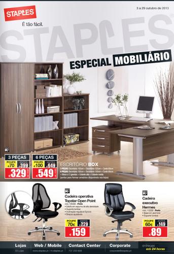 Novo Folheto Staples - Especial Mobiliário, de 3 a 29 Outubro