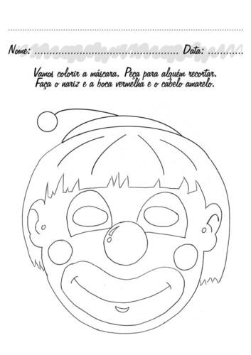 Mascara De Palhaco Para O Carnaval O Mundo Das Criancas
