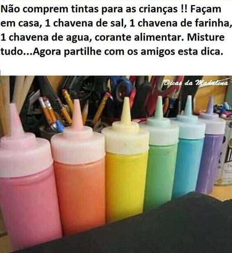 Como fazer tintas para crianças