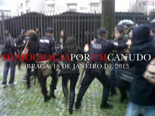 Em Braga, Democracia Por um canudo