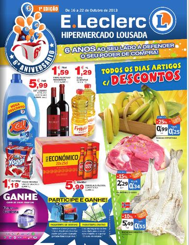 Antevisão E-leclerc, Novo Folheto Lousada, de 16 a 22 Outubro