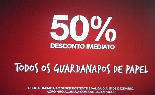 50% de desconto | CONTINENTE | Guardanapos de Papel