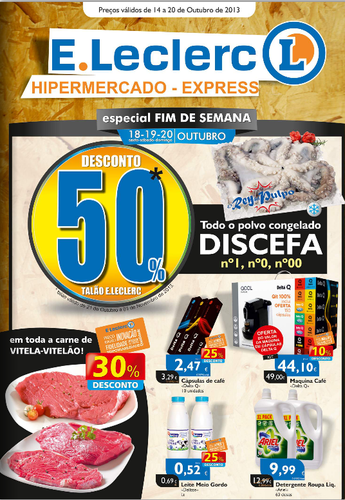 Antevisão, E-leclerc, Novo Folheto Chaves, de 18 a 20 Outubro