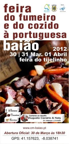 É já este fim-de-semana em Baião, mais uma edição da Feira do Fumeiro e do Cozido à Portuguesa.