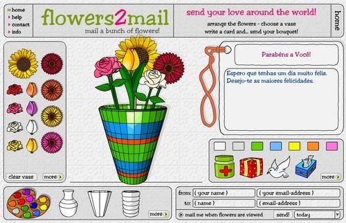 enviar flores por e-mail cartões e-cards