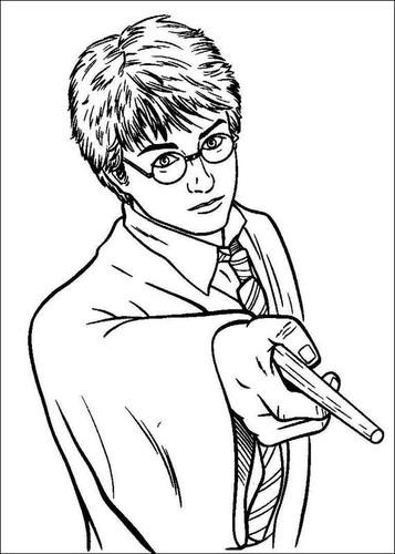Desenhos Para Colorir Do Harry Potter O Mundo Das Criancas