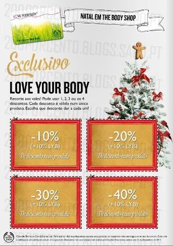Novo Folheto | THE BODY SHOP | Com Vales de desconto :)