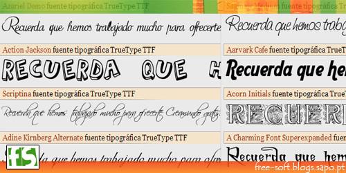 Fontes e tipos de letra gratuitos