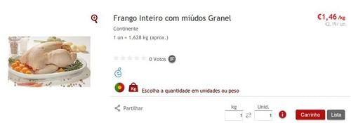 Super Preço | CONTINENTE | Frango a 1,46€
