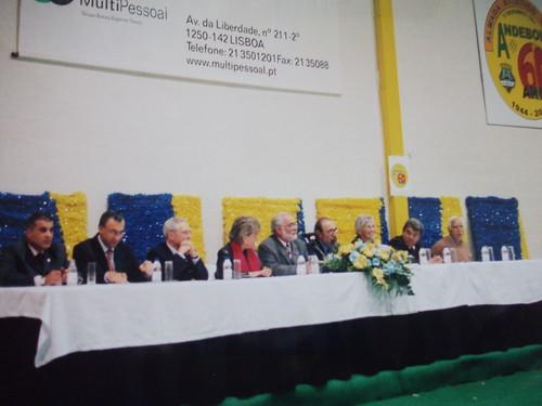 A mesa de honra que presidiu ao aniversário dos 60 Anos do Andebol do Almada Atlético Clube