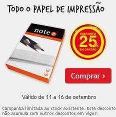 25% em Cartão em Papel de Impressão no Continente